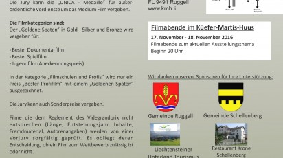 Internationaler Filmgrandprix und Jugendfilmtage Liechtenstein